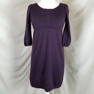 🌻 LOFT Aubergine Sweater Dress